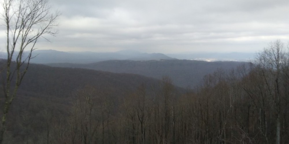 Mountain top views from the TWRA trails from the City of LaFollette