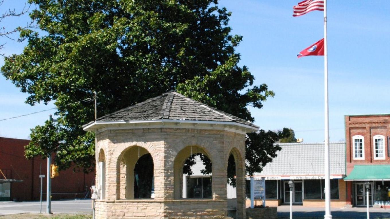 Bandstand on L&N Depot Grouds Built in 1931 – Durant Tullock