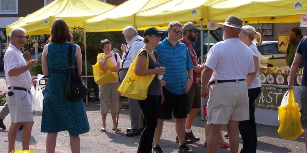 Farm-fresh food and friendly atmosphere at weekly Farmers Market. – Tina Murrow