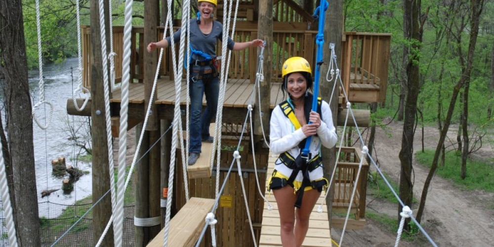 In addition to the Zipline you might like to challenge yourself on our Ropes challenge course,