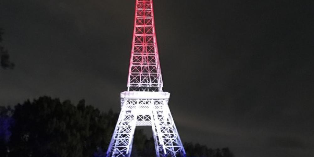 Eiffel Tower Park at night. – Susan Jones