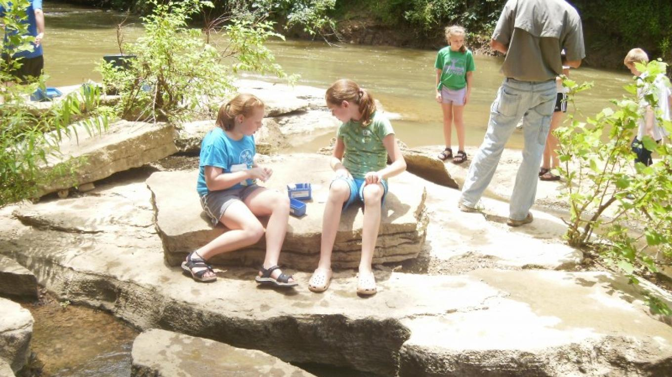 Water Testing at Kids4CleanWater Camp