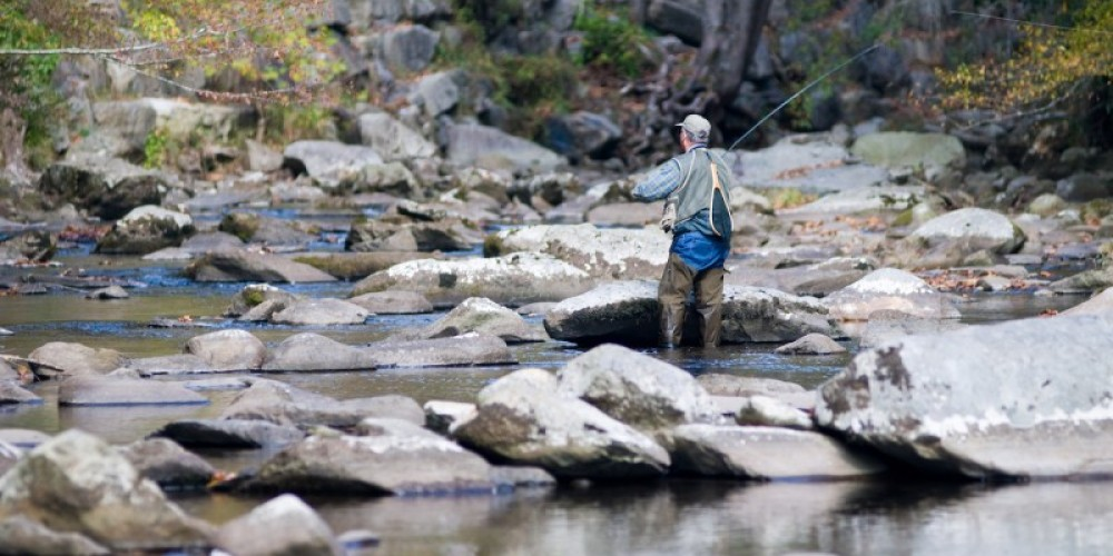 Fly fishing on the Little Tennessee River – Geir Olav Lyngfjell