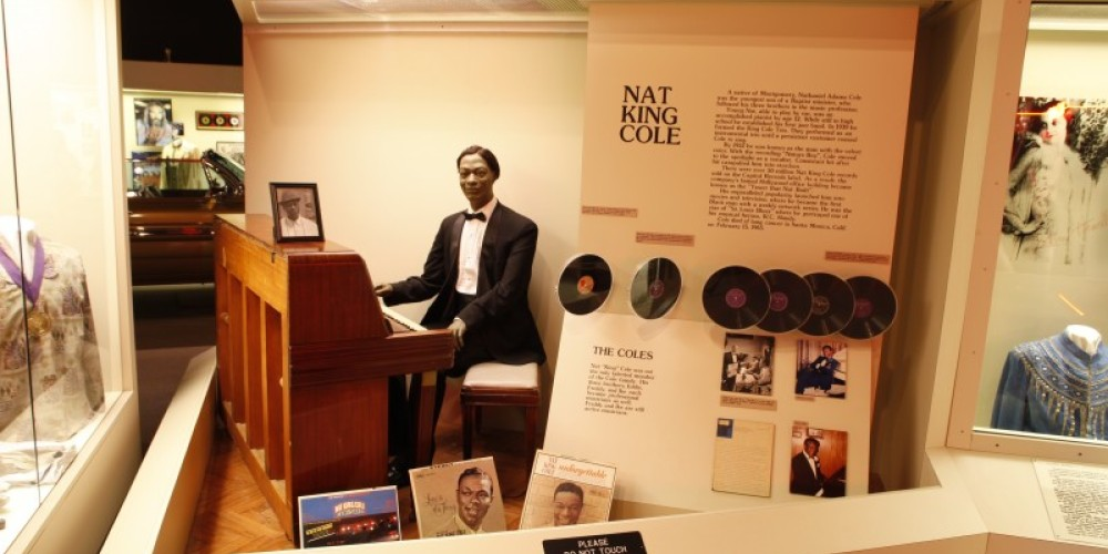 Memorabilia of Nat King Cole is on display at the Alabama Music Hall of Fame. – Glenn Wheeler