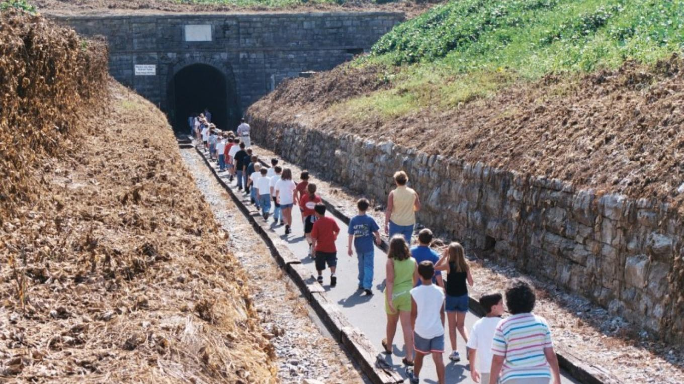 Historic Western & Atlantic Railroad Tunnel - completed in 1850.  Open for guided tours during reenactment weekend.