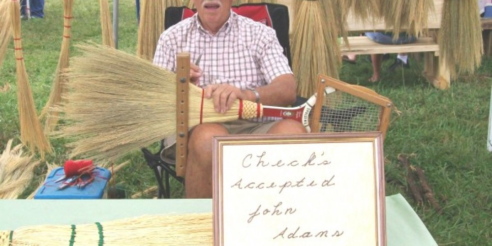 Craft booth--broom making – Townsend Visitors Center
