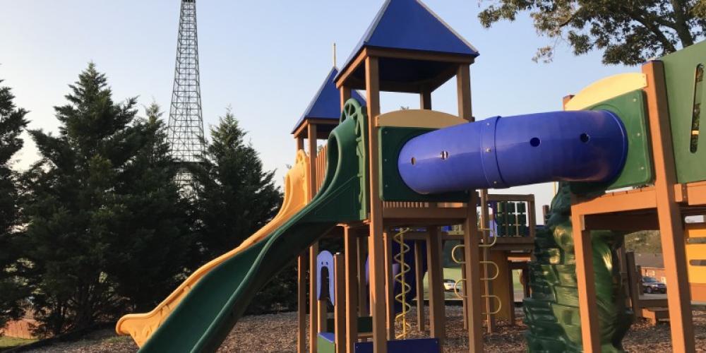 Playground at Eiffel tower Park – Susan Jones