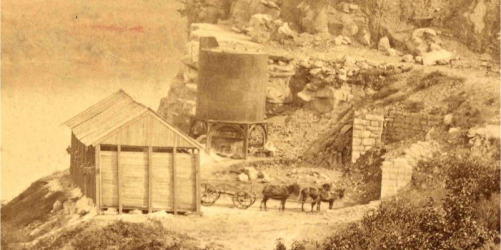 The furnace in 1864 – unknown