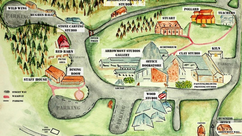 Arrowmont Map