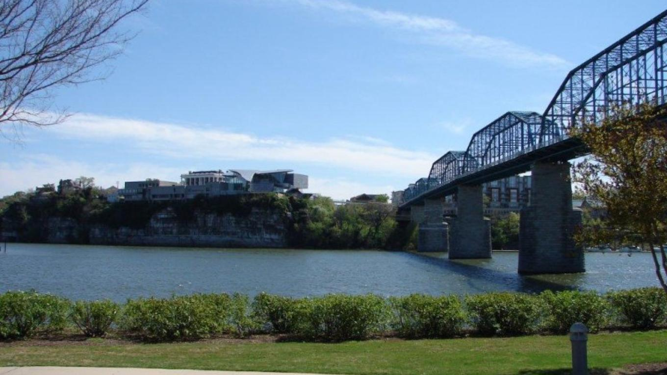 Walk to banks of the TN River, with a great view of downtown Chattanooga! – Brian Smith