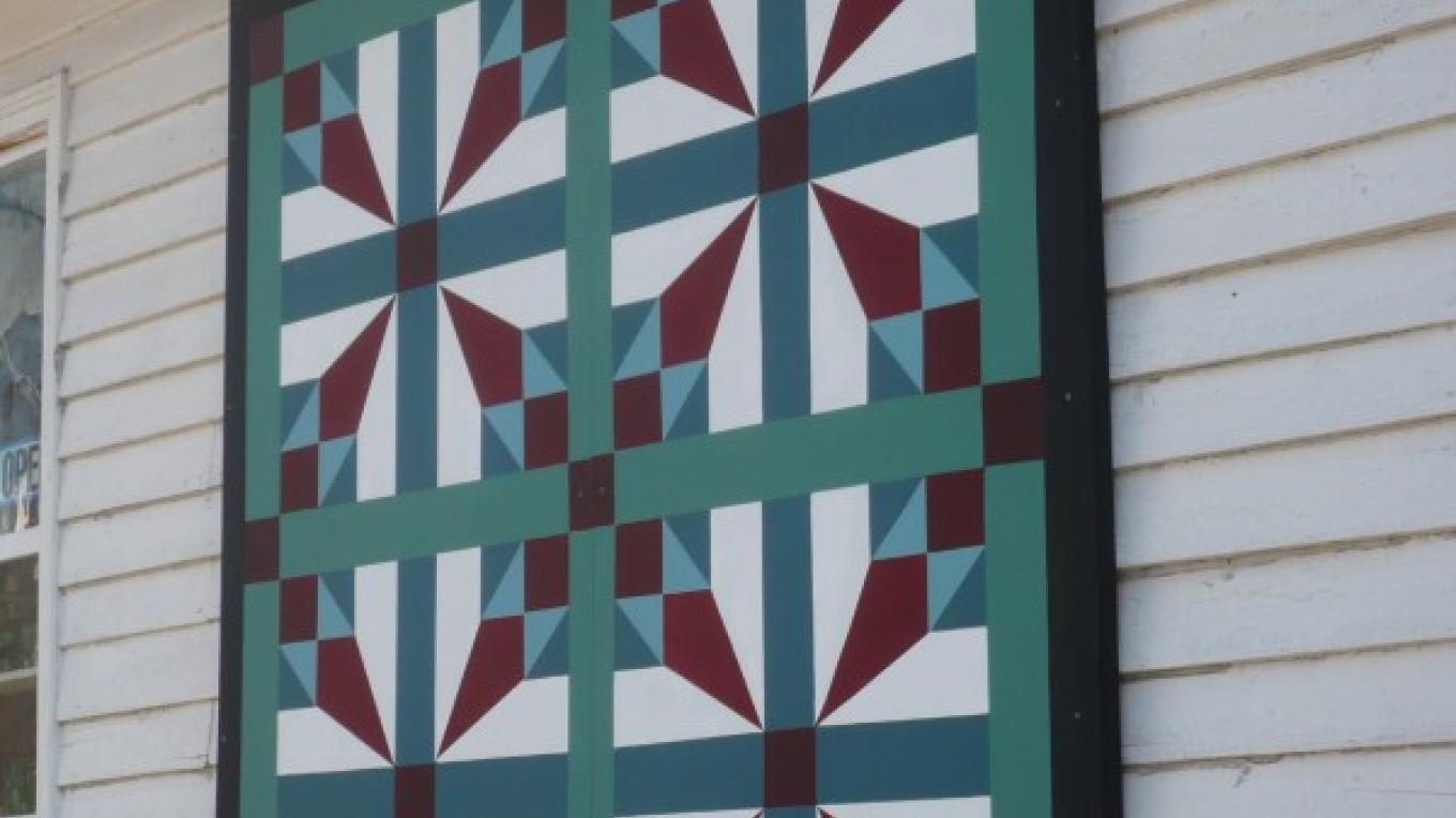 Dandridge has three quilts in the downtown area and there are over 60 quilts in the county. We are part of the Applalachian Quilt Trail. – Barbara Garrow