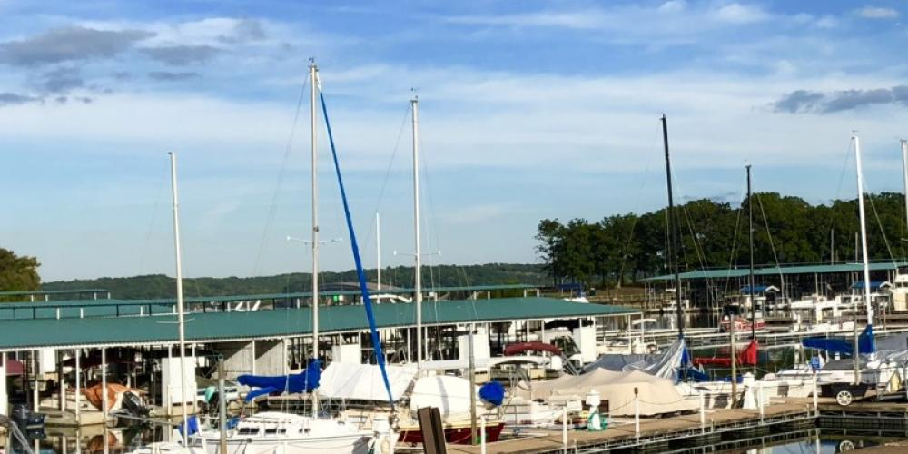 The park's marina is home to local boaters and those passing through or vacationing on the Tennessee River. – Susan Jones