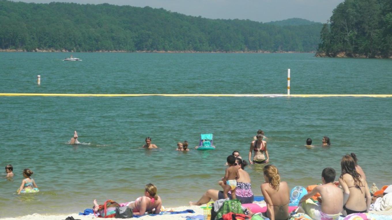 Swimming at Carters Lake