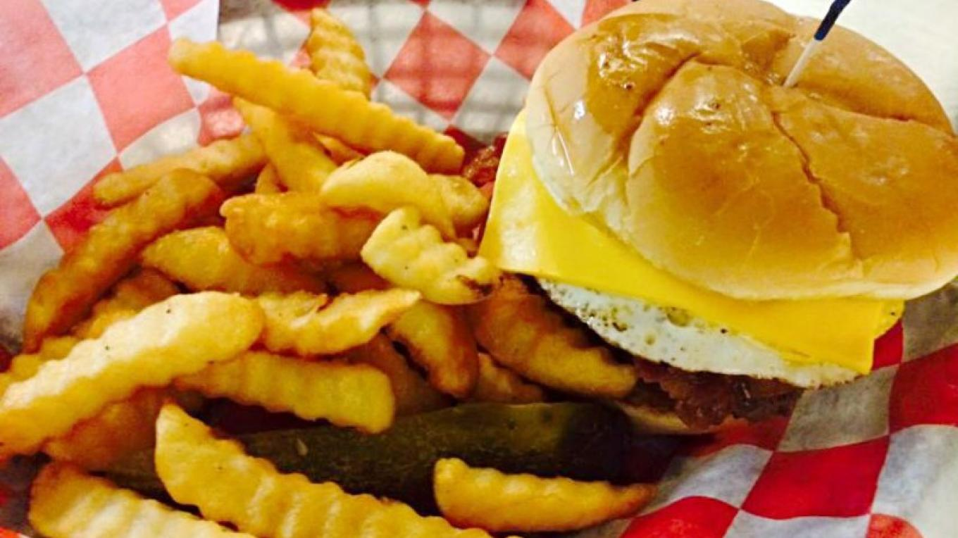 Burger and Fries – Dover Grille