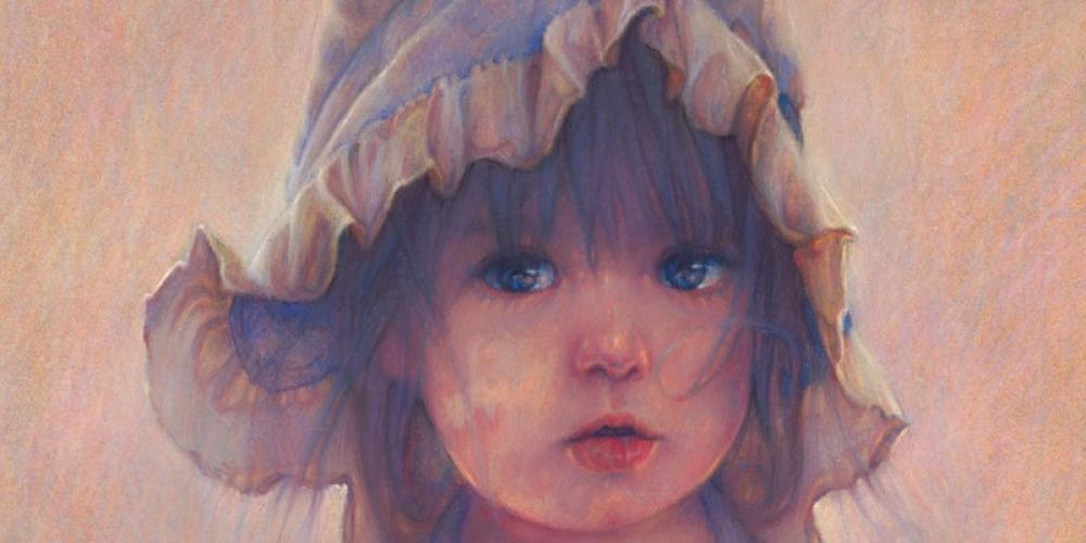 All Mine pastel of girl in Cumberland Gap – Paul Murray artist