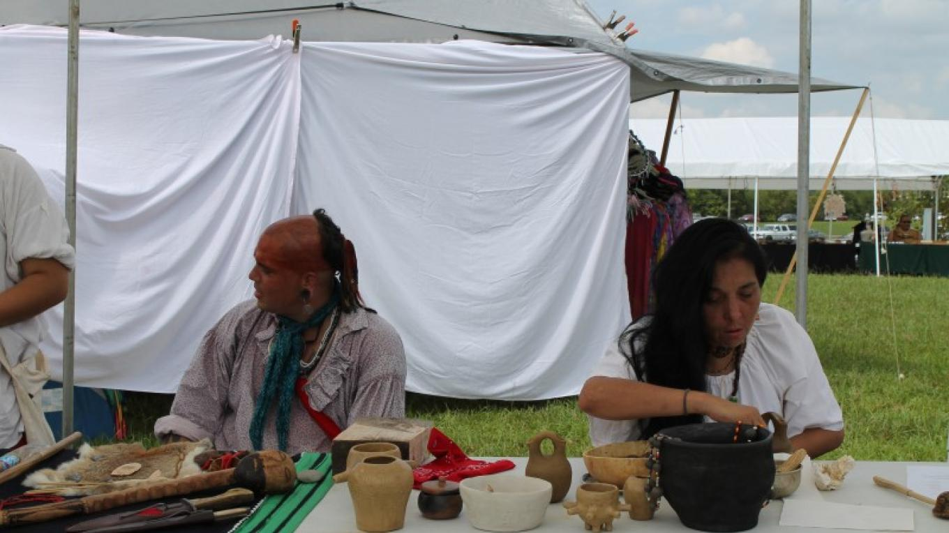 Cherokee Historical Association demonstrating crafts – SBM