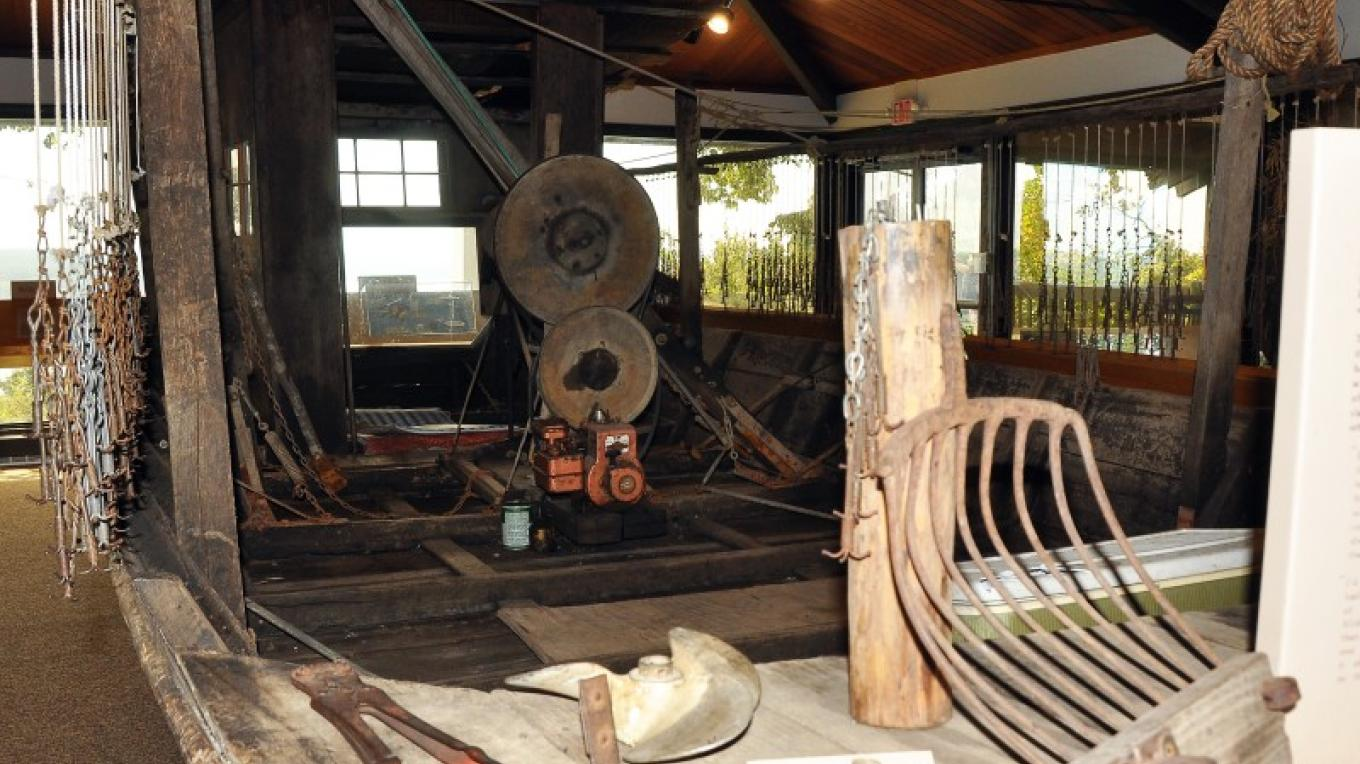 "The life size boat features and interprets a host of ""tools of the trade"" that most folks have never seen. – Jean Owens"