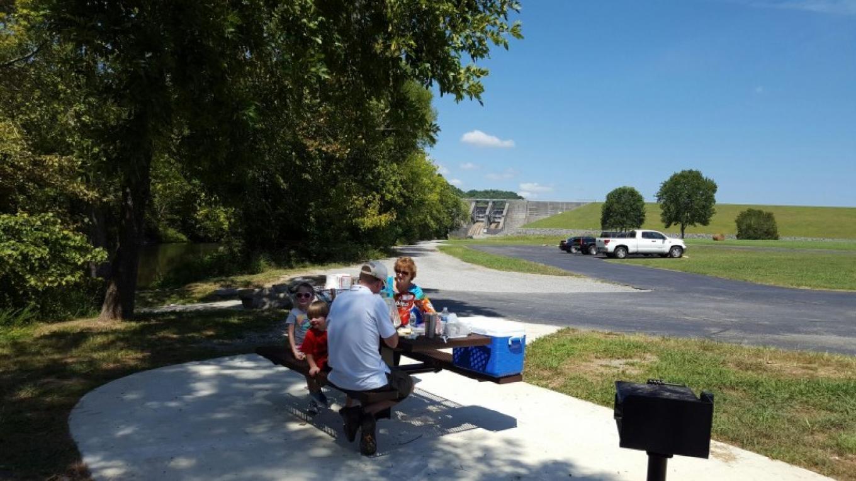 Family picnic Normandy Dam tailwater – TVA