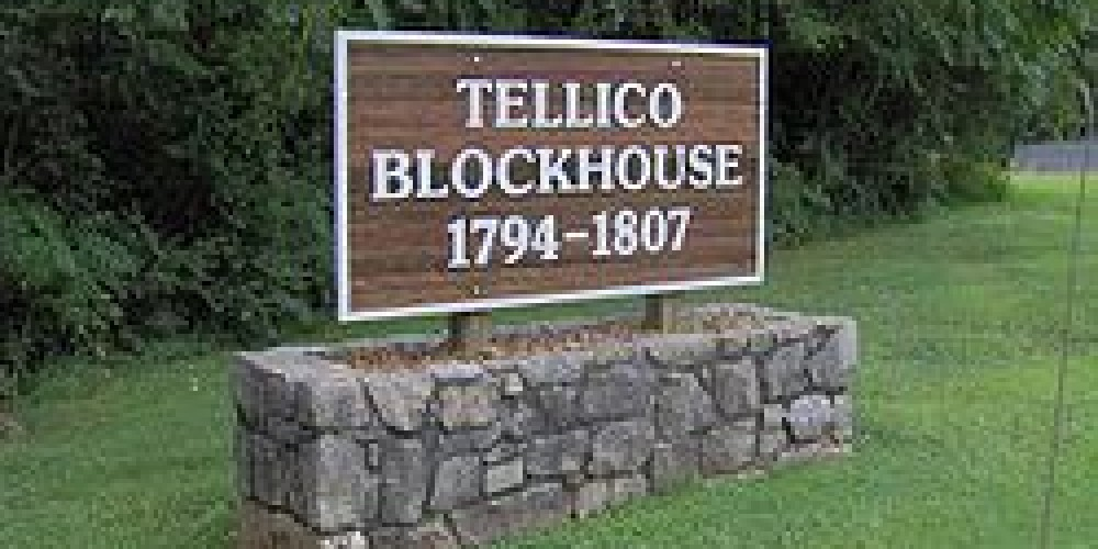 Sign at the Tellcio Blockhouse